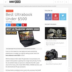 Best Ultrabook Reviews