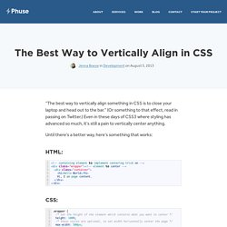 The Best Way to Vertically Align in CSS