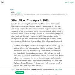 5 Best Video Chat Apps in 2016 – Medium