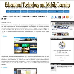 The Best 8 iPad Video Creation Apps for Teachers in 2014