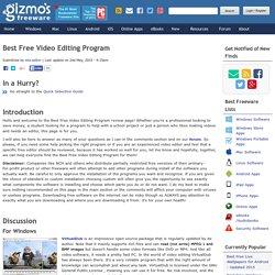 Best Free Video Editing Program