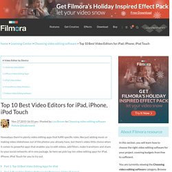Top 10 Best Video Editor for iPad/iPhone/iPod Touch