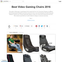 Best Video Gaming Chairs 2016