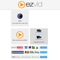 Ezvid | Free Video Maker and Screen Recorder For YouTube