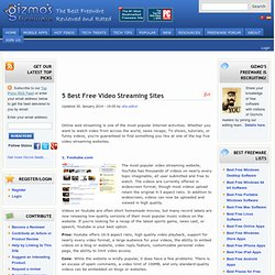 The Top 5 Video Streaming Websites