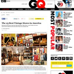 Best Vintage Stores in America: Best Stores in America