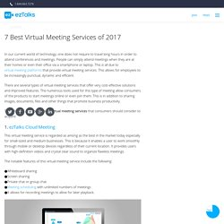 7 Best Virtual Meeting Services of 2017