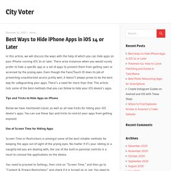 Best Ways to Hide iPhone Apps in iOS 14 or Later – City Voter