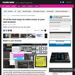 10 of the best ways to make music in your web browser