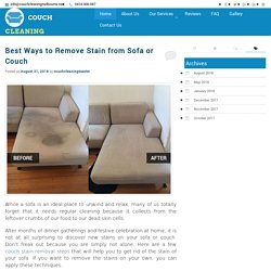 Best Ways to Remove Stain from Sofa or Couch