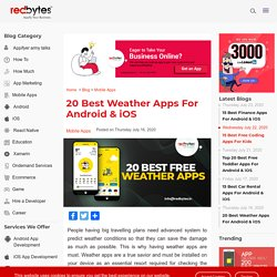 20 Best Weather Apps For Android & iPhone 2020