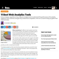 11 Best Web Analytics Tools