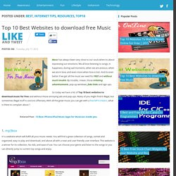 Top 10 Best Websites to download free Music