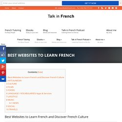 Best Websites to Learn French - Talk in French