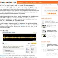 10 Best Websites to Find Free Sound Effects