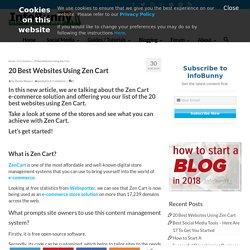 Best Websites Using Zen Cart - Here Are Our Top 20 Best Zen Cart Stores