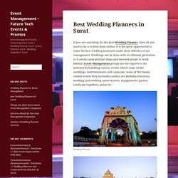 Best Wedding Planners in Surat