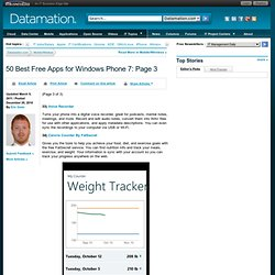 50 Best Free Apps for Windows Phone 7 — Datamation.com