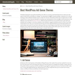 Best WordPress Ad-Sense Themes