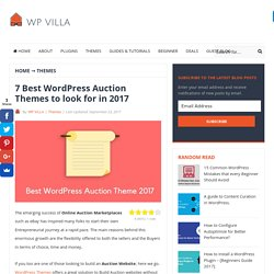 7 Best WordPress Auctions Themes to look for in 2017