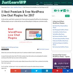 11 Best WordPress Live Chat Plugin For 2017 - Premium & Free