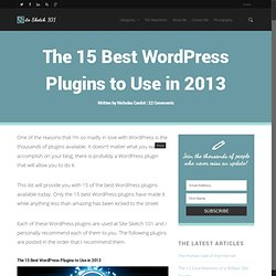 The 15 Best Wordpress Plugins to Use in 2010