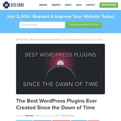 The Best WordPress Plugins Since the Dawn of Time