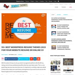 55+ Best WordPress Resume Themes 2015