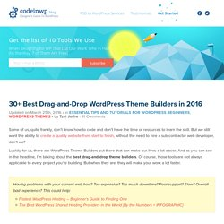 25+ Best Drag And Drop WordPress Theme Builders