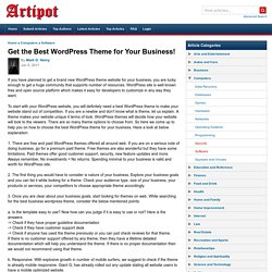 Get the Best WordPress Theme for Your Business!