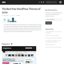 The Best Free WordPress Themes of 2009 | Freebies
