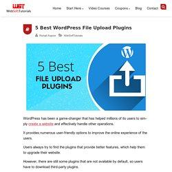 5 Best Free WordPress File Upload Plugins in 2020