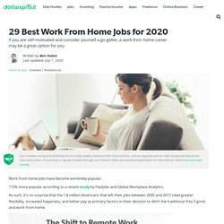 29 Best Work from Home Jobs Hiring Now (2020 Update)