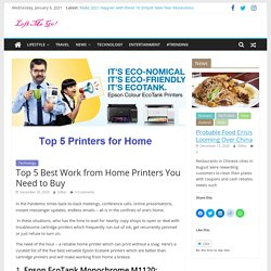 Top 5 Best Work from Home Printers You Need to Buy