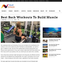 Best Back Workouts To Build Muscle