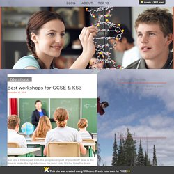 Best workshops for GCSE & KS3