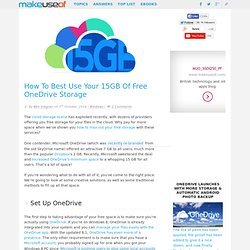 How To Best Use Your 15GB Of Free OneDrive Storage