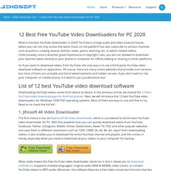 12 Best YouTube Video Downloaders for PC (Safe & Free)