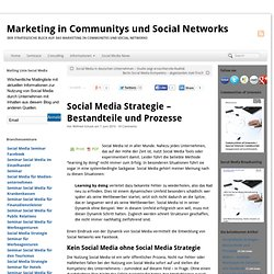 Social Media Strategie - Bestandteile und Prozesse | Marketing in Communitys und Social Networks