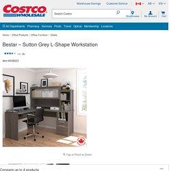 Bestar – Sutton Grey L-Shape Workstation