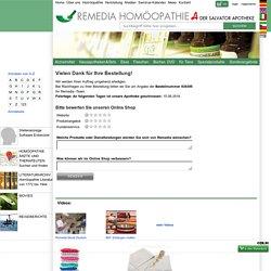 Bestätigung Ihrer Bestellung - Remedia Homöopathie