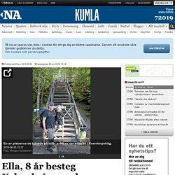 Ella, 8 år besteg Kebnekaise med pappa - Kumla