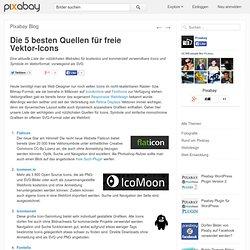 Die 5 besten Quellen für freie Vektor-Icons