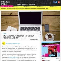 Die 37 besten Websites, um etwas Neues zu lernen : Business Punk