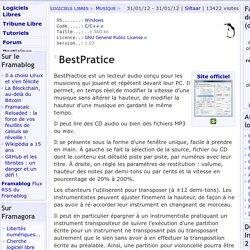 BestPratice - Musique - Logiciels Libres