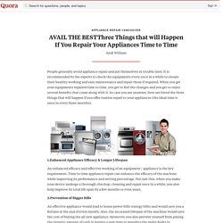 AVAIL THE BESTThree Things that will Happen If ... - Appliance Repair Vancouver - Quora