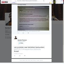 """Gordon Freeman on Twitter: """"van juryleden naar betrokken bestuurders: #NOT2017 #maagdenhuis #defractie thread"""""""
