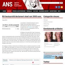 RU-bestuurslid declareert stoel van 3000 euro