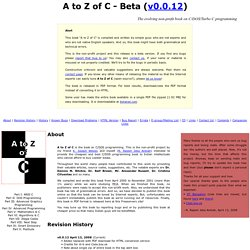 A to Z of C - Beta | Online book on C/DOS programming