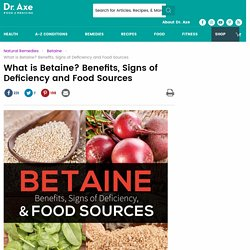 What is Betaine? Benefits, Signs of Deficiency and Food Sources